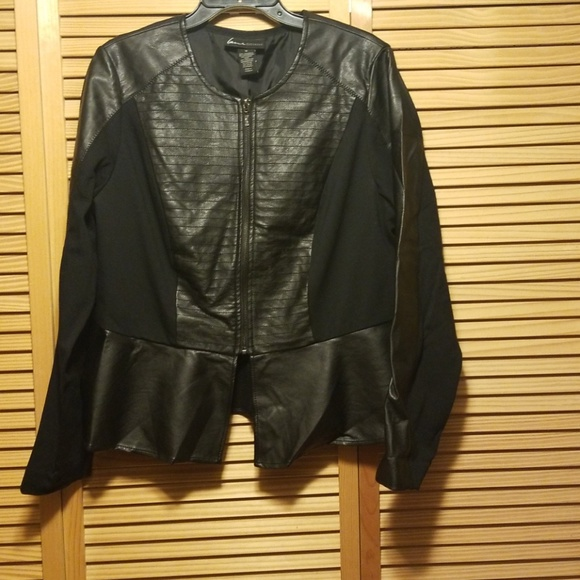 9df9ded403b Lane Bryant Jackets   Blazers - Lane Bryant faux leather and ponte peplum  jacket